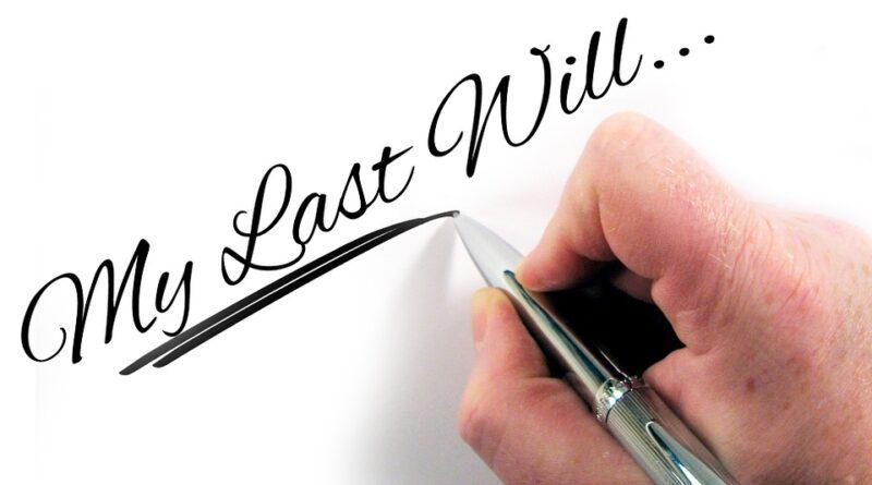 hvorfor skrive et testamente
